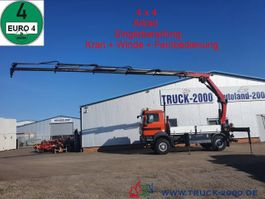 platform truck MAN TGM 13.290 4x4 Kran+ Winde+ FB+ Singlebereifung 2012