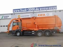 garbage truck MAN TGA Hüffermann Frontlader mit Waage*31m³* 2008