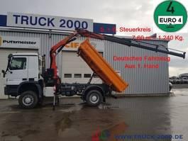 tipper truck > 7.5 t Mercedes-Benz Actros 1832 4x4 Meiller Kran PK 10501 Hydraulik 2008