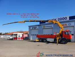 crane truck MAN 8x4 Effer 600 4S + JIB 60T/M bis 30m Höhe 2002