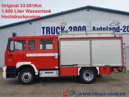 box truck MAN 14.224 4x4 Metz Feuerwehr 9Sitze 1600l Löschw. 1998