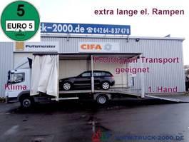 loading ramp - car transporter lcv Mercedes-Benz 822 Atego Geschlossener Transport + el. Rampen 2009