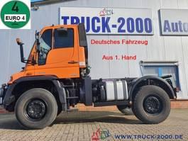 chassis cab truck Mercedes-Benz U 400 4x4 Zapfwelle Wechsellenkung Mähsitz Klima 2008