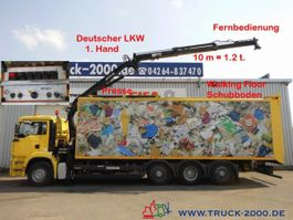 garbage truck MAN 32.390 Schubboden 57m³Wertstoff Müll Presse 2005