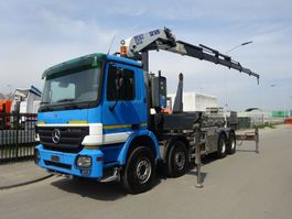 container truck Mercedes-Benz ACTROS 4141 8X4 HAAKSYSTEEM / PESCI 505 / 6 / REMOTE CONTROL / 360 ROTEREND / KEURING / PERFECT CONDITION !! 2005