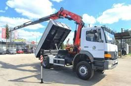 tipper truck Mercedes-Benz Atego 1828 4x4 FASSI F175A 2006 !! Crane Kipper 2000