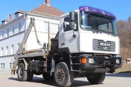 container truck MAN 19.414 4x4 Retarder Blatt Blatt E3 2001