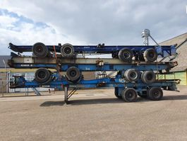 container chassis semi trailer Van Hool Steelspring - Widespread - Dubble tires 1990