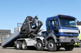 tipper truck > 7.5 t Renault Kerax 420 8x4 Haken-Abrollkipper Kran Pritsche 2004
