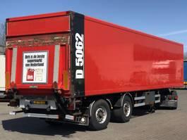 closed box semi trailer Samro GESLOTEN TRAILER / STUURAS / LAADKLEP / APK 2008