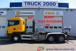container truck Scania 124G470 6x4 Multilift Knick- Schub Haken 25 to. 2002