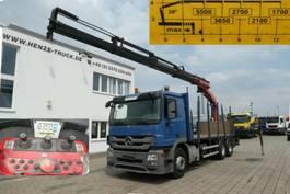 crane truck Mercedes-Benz Actros 2641 6x4 Pritsche Heckkran Palfinger PK 2011