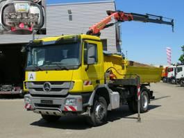 other trucks Mercedes-Benz Actros 2-Achs Kipper Kran Funk/3xhydr+Greif 2010