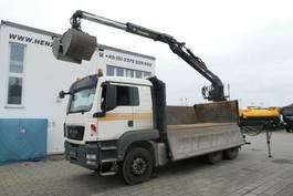 crane truck MAN TGS 26 6x4 BB 3-Achs Kipper Heckkran Jonser 2010