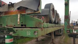 flatbed semi trailer MOL Plateau oplegger bpw 3 asser luchtvering 1996
