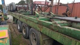 flatbed semi trailer MOL Plateau 3 asser lucht bpw 1999