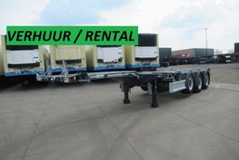 Container-Fahrgestell Auflieger D-Tec RENTAL / VERHUUR / FLEXITRAILER MULTI 2018