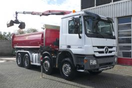 tipper truck > 7.5 t Mercedes-Benz Actros 4141 8X4 2 SIDED TIPPER AND HMF CRANE WITH RADIO FULL NEW TYRES 100% 2013