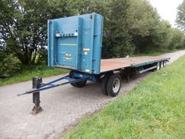 flatbed semi trailer Groenewegen 3 As MEGA VOLUME Transport Oplegger of i.c.m. Dolly - Langzaam Verkeer O... 2004