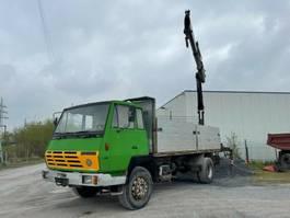 platform truck Steyr 19 S 24, 6 Zylinder, Full Steel, Hiab Kran 1990