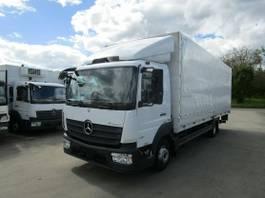 tilt truck Mercedes-Benz Atego 818 L PRITSCHE/PLANE 7,20 m LBW 1 T*KLIMA 2016