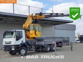 platform truck Iveco Trakker 450 6X4 Manual Big-Axle Euro 4 Hidrokon HK 90 YKL6 2009