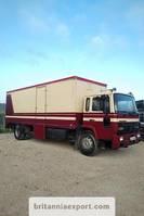 closed box truck Volvo FL617 17.5 ton full springs left hand drive. 1990