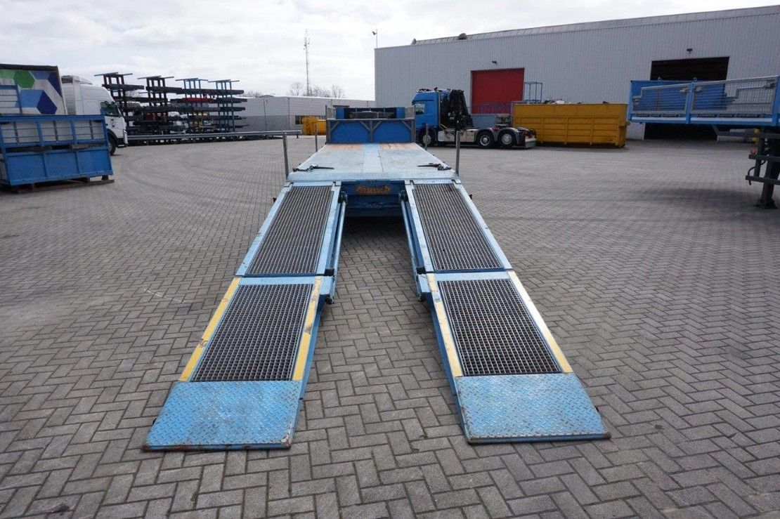 flatbed semi trailer Nooteboom MCO-48-03L / 3X STEERING AXLE / NEW LOADING FLOOR / 45000KG / 2002 2002