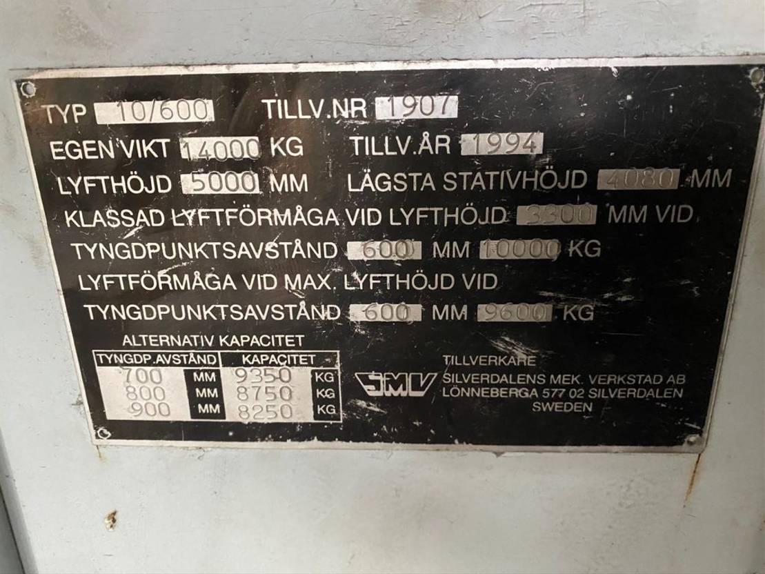 forklift SMV 10/600 1994