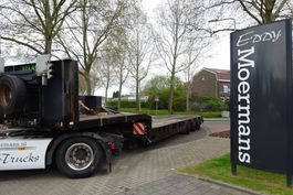 lowloader semi trailer Broshuis 3 ABSD-36 Tele With Wheelcoils 2001