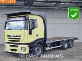 platform truck Iveco Stralis 500 6X2 Manual Intarder Liftachse Euro 5 2009