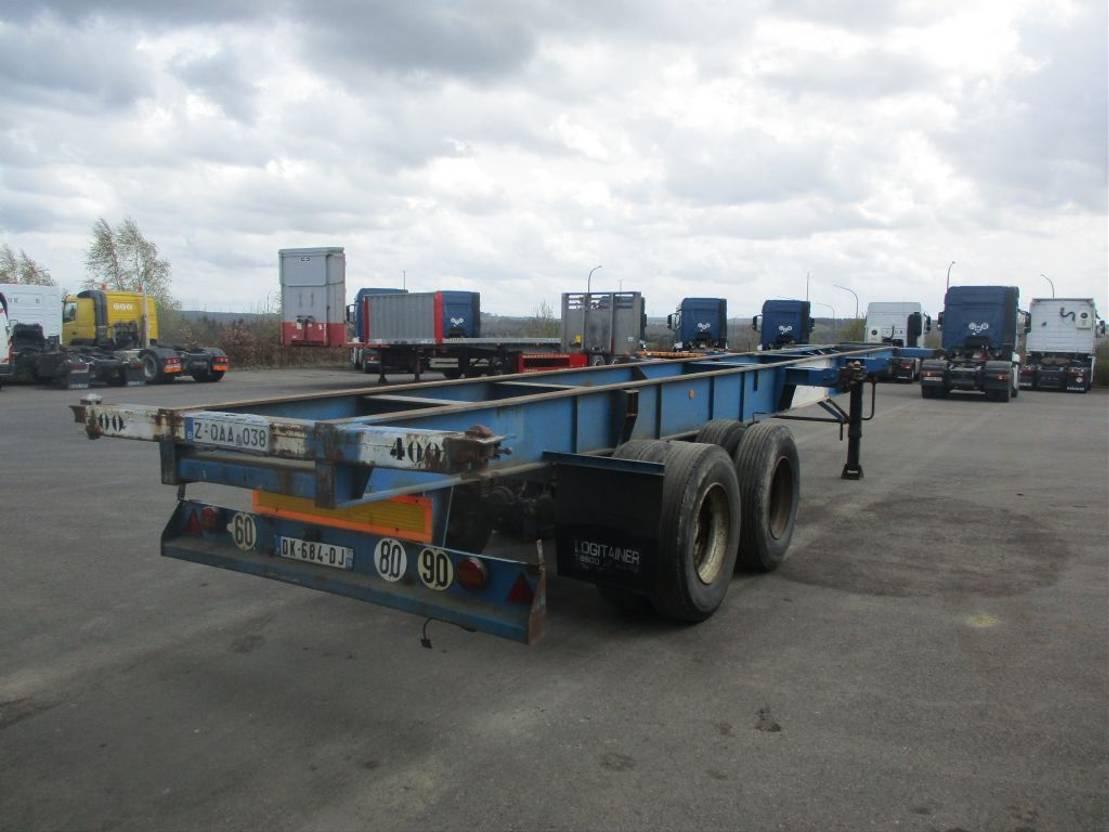 Container-Fahrgestell Auflieger Fruehauf container 2x20' - 1x40' 1978