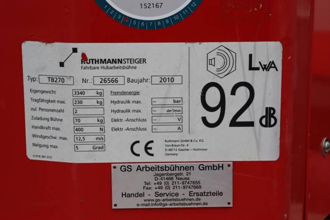 LKW-Arbeitsbühne Ruthmann TB270 Valid inspection, *Guarantee! Driving Licenc 2010