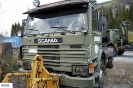 chassis cab truck Scania P92 4x4 1988