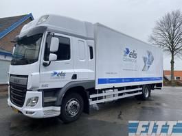 closed box truck DAF CF 250 FA CF250 SkyCab, gesloten laadbak met klep 2014