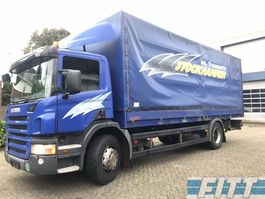 tilt truck Scania P230 MANUAL - huif met klep 2008