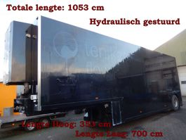 closed box semi trailer Van Eck DT 22 1BZ 4269 1 As Oplegger Dieplader Gesloten, OF-50-BP 1996