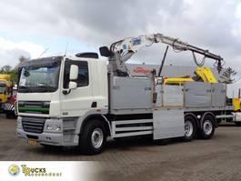 platform truck DAF CF 85 + Euro 5 + Manual + Kennis 16.000 Crane 2013