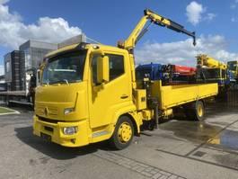 drop side truck Renault D180 4X2 EURO 6 + PALFINGER PK4200 2015