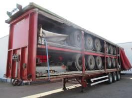 Planenauflieger Metaco Stack of 5 different trailers , 3 axles , drum brakes 1998