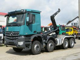 container truck Mercedes-Benz Arocs 8x4 Abrollkipper Hiab Schubarm 26to 2014