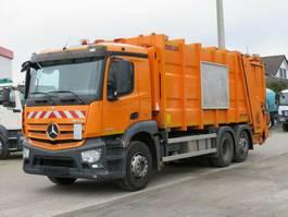 garbage truck Mercedes-Benz Antos 2536 L 6x2 Müllwagen Zoeller + Schüttung 2014