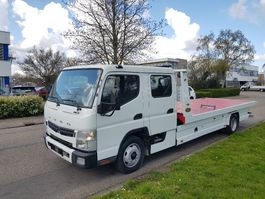car transporter truck FUSO 7C18 Dubbel Cabine Autotransporter schuifplateau