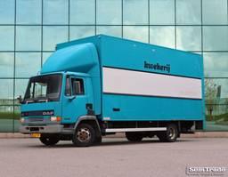 closed box truck DAF LF 45.150 EURO 2 MANUAL GEARBOX FULL STEEL SUSPENSION 1998