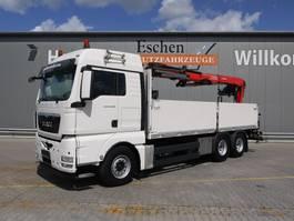 drop side truck MAN TGX 26 BL, 6x4, EEV, Fassi F 185 Kran 2013