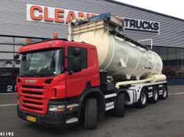 vacuum truck Scania P380 10X4*6 zuig & blaas droge stoffen opbouw 2009