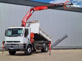tipper truck > 7.5 t Renault Kerax 370 DCI 17 TM Kraan, Crane, Kran, Grue - Telma brake! 2002