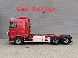 container truck DAF XF 510 6x2 Euro 6 Hiab 20 Tons Hooklift Retarder Radio Remote! 2015
