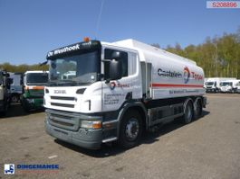 tank truck Scania P380 6X2 fuel tank 20.6 m3 / 4 comp + dual pump/counter/hoses 2009