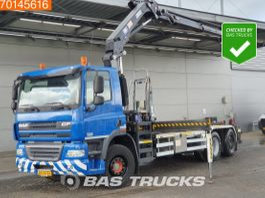 container truck DAF CF 85 6X2 NL-Truck Steering Axle Kran Crane HMF 2020-K3 2011